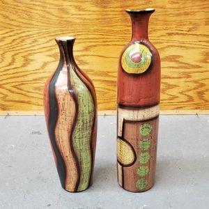 Set of 2 decorative vases